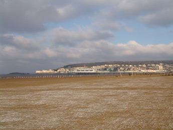 Theol and new piers, Weston-super-Mare